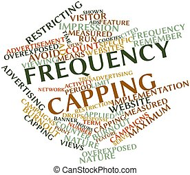 Frequency capping - Abstract word cloud for Frequency...