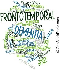 Abstract word cloud for Frontotemporal dementia with related tags and terms