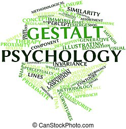 Abstract word cloud for Gestalt psychology with related tags and terms