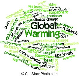 Global Warming - Abstract word cloud for Global Warming with...