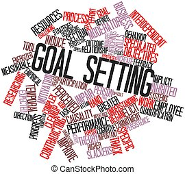 Abstract word cloud for Goal setting with related tags and terms