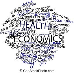 Health economics - Abstract word cloud for Health economics...