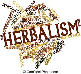 Herbalism - Abstract word cloud for Herbalism with related...
