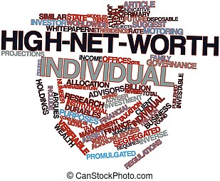 High-net-worth individual - Abstract word cloud for...