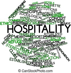 Hospitality - Abstract word cloud for Hospitality with...