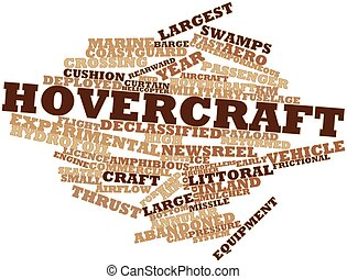 Abstract word cloud for Hovercraft with related tags and terms