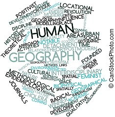 Human geography - Abstract word cloud for Human geography...
