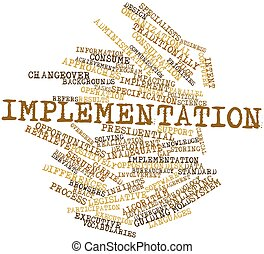 Implementation - Abstract word cloud for Implementation with...