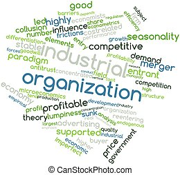 Industrial organization - Abstract word cloud for Industrial...