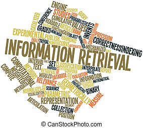 Information retrieval - Abstract word cloud for Information...