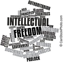 Intellectual freedom - Abstract word cloud for Intellectual...