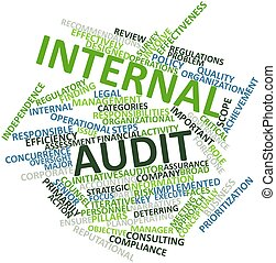 Internal audit - Abstract word cloud for Internal audit with...