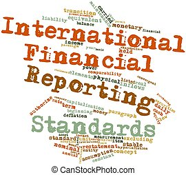 International Financial Reporting Standards - Abstract word ...
