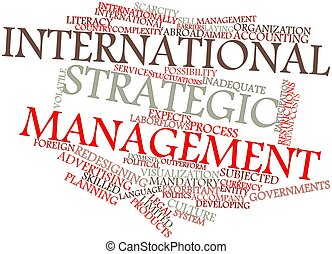 International strategic management - Abstract word cloud for...