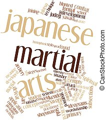 Japanese martial arts - Abstract word cloud for Japanese...