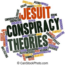Jesuit conspiracy theories - Abstract word cloud for Jesuit...