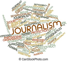 Abstract word cloud for Journalism with related tags and terms