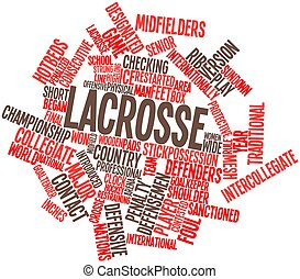 Lacrosse - Abstract word cloud for Lacrosse with related...
