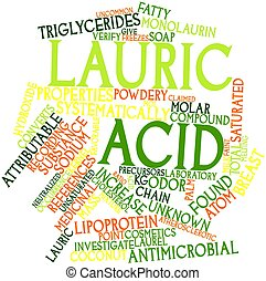 Lauric acid - Abstract word cloud for Lauric acid with...