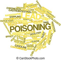 Lead poisoning - Abstract word cloud for Lead poisoning with...
