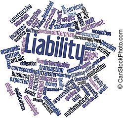 Liability - Abstract word cloud for Liability with related...