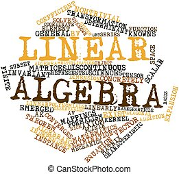 Linear algebra - Abstract word cloud for Linear algebra with...