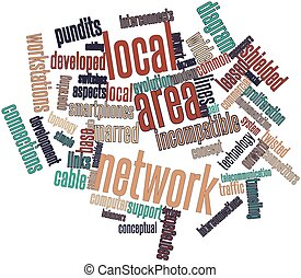 Local area network - Abstract word cloud for Local area...