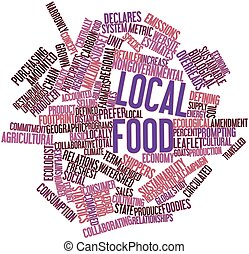 Abstract word cloud for Local food with related tags and terms