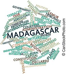 Madagascar - Abstract word cloud for Madagascar with related...