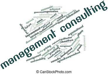 Management consulting - Abstract word cloud for Management...