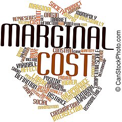 Marginal cost - Abstract word cloud for Marginal cost with...