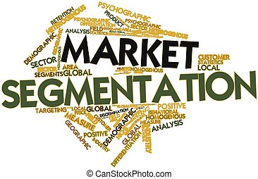 Market segmentation - Abstract word cloud for Market...