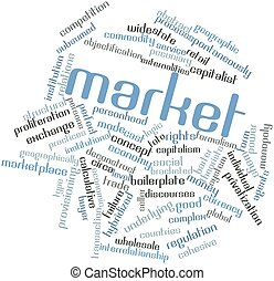 Market - Abstract word cloud for Market with related tags...