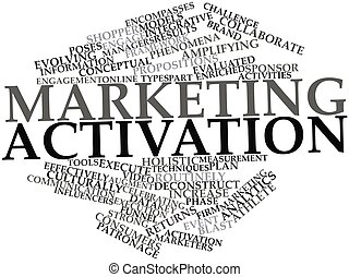 Abstract word cloud for Marketing activation with related tags and terms