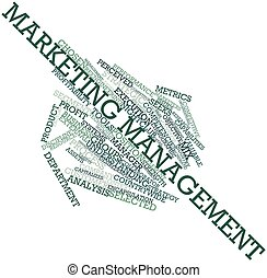 Marketing management - Abstract word cloud for Marketing ...