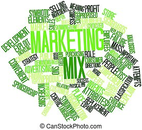Marketing mix - Abstract word cloud for Marketing mix with...