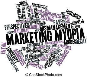 Abstract word cloud for Marketing myopia with related tags and terms