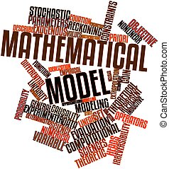 Mathematical model - Abstract word cloud for Mathematical...