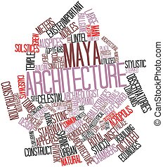 Maya architecture - Abstract word cloud for Maya...