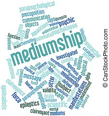 Mediumship - Abstract word cloud for Mediumship with related...