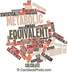 Metabolic equivalent - Abstract word cloud for Metabolic...