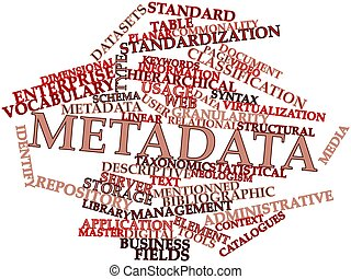 Abstract word cloud for Metadata with related tags and terms