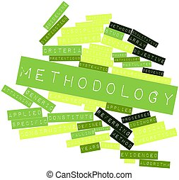 Methodology - Abstract word cloud for Methodology with...