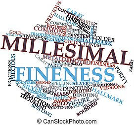 Millesimal fineness - Abstract word cloud for Millesimal...