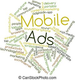 Mobile Ads - Abstract word cloud for Mobile Ads with related...