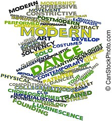 Abstract word cloud for Modern dance with related tags and terms