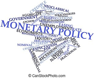 Abstract word cloud for Monetary policy with related tags and terms
