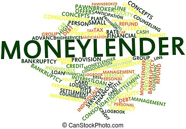 Moneylender - Abstract word cloud for Moneylender with ...