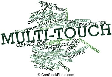 Multi-touch - Abstract word cloud for Multi-touch with...