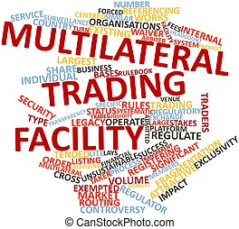 Multilateral trading facility - Abstract word cloud for...